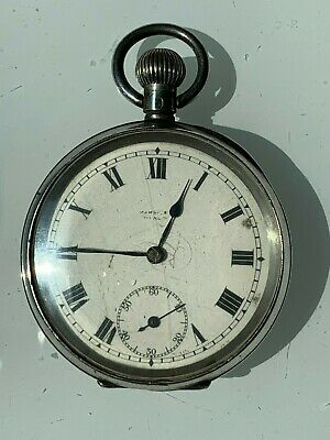 Antique silver pocket watch, 1924 swiss made by Mobile Watch Co