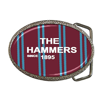 The Hammers Since 1895 West Ham Belt Buckle - Great Gift Item