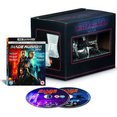 Blade Runner 2049 Limited Edition-SteelBook 3D & 2D Blu-ray & 2 Whiskey Glasses.