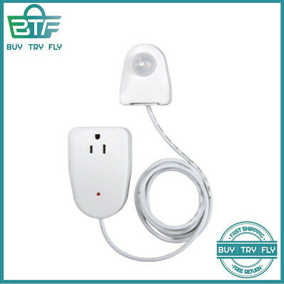 White Ovalish Indoor Plug In Corded Motion Sensor Activated Light Control Outlet