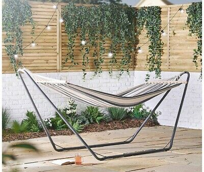 VonHaus Hammock with Metal Frame - Blue - tried it but then never used again