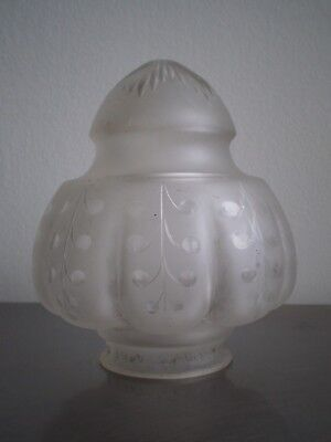 Tulipe Shells Glass Engraved Litecraft Clearance 19th S Antique Lamp Piece 7cm