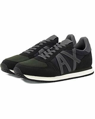 New Men Armani Exchange Micro Suede Sneaker Shoes Size US 10