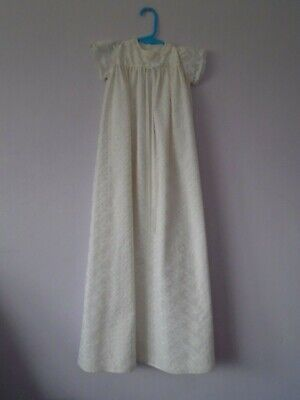 Babies hand sewn 1960's nylon christening gown