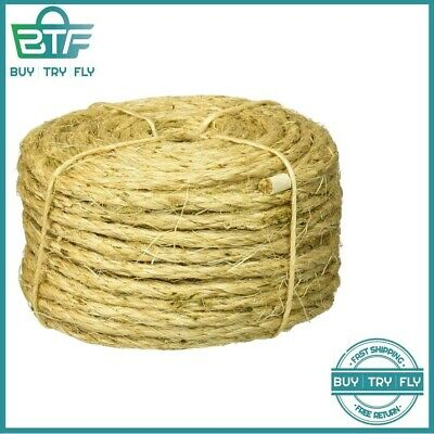 ROPE 3/8 IN  x 250 ft  Twisted Sisal Natural Fiber Pet Safe