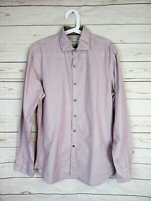 Shirt Push Button in Purple Pattern for Mens Boggi Milano Very Good