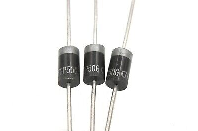 EGP50G Glass Passivated Ultrafast Rectifier, 400V 5A - Lot of 3, 10, or 25