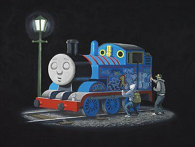 A3/A4 SIZE - Banksy Thomas the Tank Engine  WALL DECOR / GIFT ART  POSTER # 4