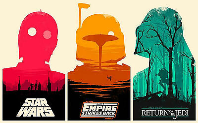 Return Of The Jedi ART POSTER #16 STAR WARS Empire Strikes Back A3//A4 SIZE