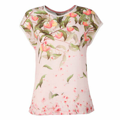 1798eb7ed04 TED BAKER Roozie peach blossom pale pink floral print tee t-shirt top shirt  5