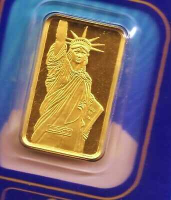 Pamp Suisse - *Statue of Liberty* 5 Gram 24kt. 999 Pure Gold, sealed in cover