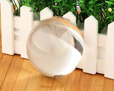 K9 Glass Crystal Paperweight Clear Half Sphere Ball Magnifying Paper Weight 90mm