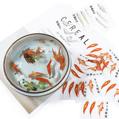 3Pcs/Set Fish Resin Stickers Paintings Mold DIY Handmade Jewelry Craft Making FO