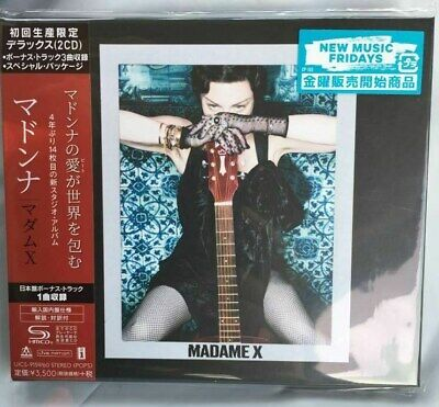 "MADONNA ""MADAME X"" JAPAN LIMITED EDITION 2 SHM-CD + Bonus Tracks *SEALED*"