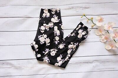 85fd46c972fb7 Beyond Yoga X Kate Spade Cinched Side Bow Floral High Leggings Size Large  $118