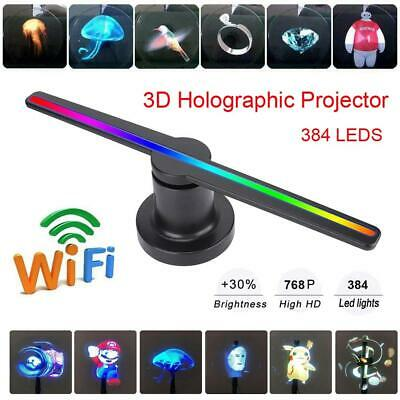3D LED WiFi Holographic Projector Display Fan Hologram Player Advertising 16GB
