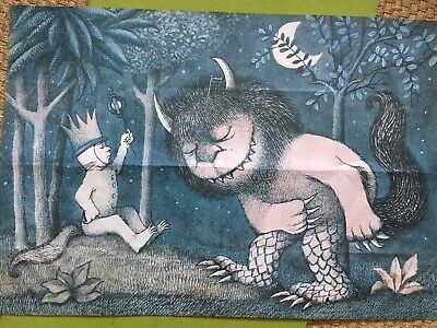 Where the Wild Things Are RARE Original 1969 Vintage Poster by Maurice Sendak
