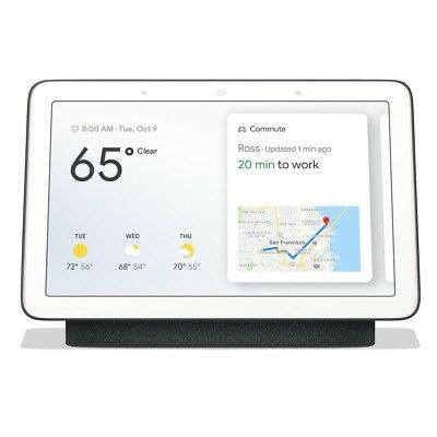 """Google 7"""" Touchscreen Nest Hub with Built-In Google Assistant, Charcoal"""