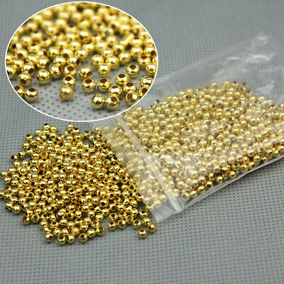 Free Shipping Lots 1000Pcs Silver Plated Smooth Round Spacers Beads 3MM A209
