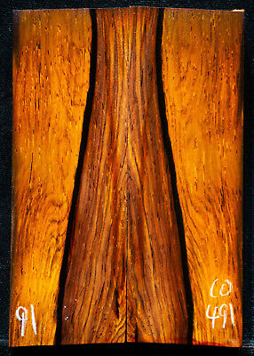 """Cocobolo #491 Rosewood Knife Scales 5""""x1.75""""x1/2"""" see 100 species in my store"""