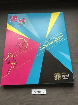 LONDON 2012 OLYMPIC GAMES ROYAL MINT 50p SPORTS COLLECTOR ALBUM - NO COINS