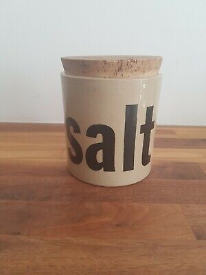 Haxby Stoneware Kitchen Salt Jar with Cork Lid