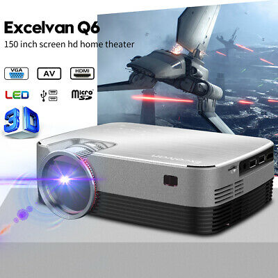 5000 Lumens HD 1080P Home Theater Projector 3D LED Portable HDMI VGA USB Cinema