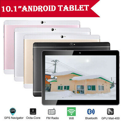 NEW 10.1'' Tablet PC 4GB+64GB Octa-Core Android 8.1 WIFI GPS Wifi+3G Phablet UK
