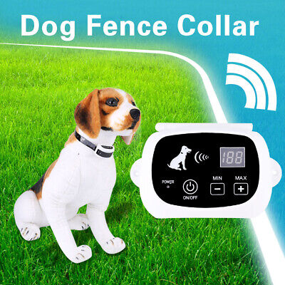 Rechargeable Waterproof Wireless Dog Fence No-Wire Pet Containment System US