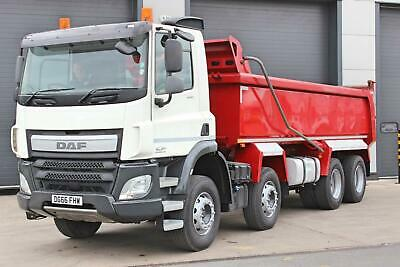 2016 DAF CF400 (Euro 6) 8X4 Tipper. Day Cab. 8 Speed Manual Gearbox. Retarder.