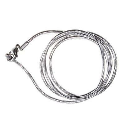 """Stainless Steel 2mm Wide Mens Womens 22"""" inch Long Chain Silver Necklace Popular"""