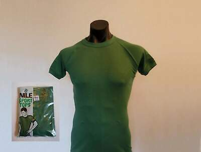 Green Athletic T-Shirt by Nile - 1970s - New Old Stock - Medium