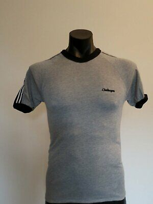 Grey Athletic Vintage T-Shirt by Challenger - 1970s - New Old Stock - Chest 90 c