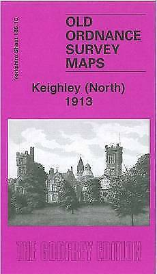 OLD ORDNANCE SURVEY MAP Keighley (North) 1913: Yorkshire Sheet 185.16