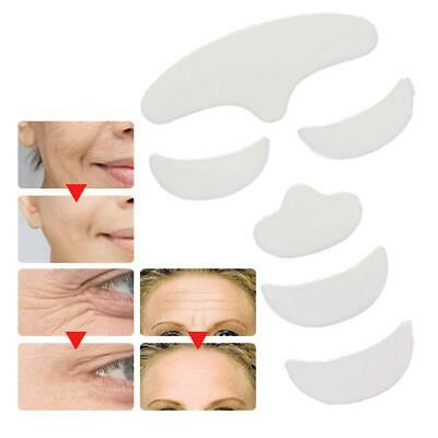 6Pcs Anti Wrinkle Silicone Patch Pad Skin Lift Reusable Forehead Eye Chin Face