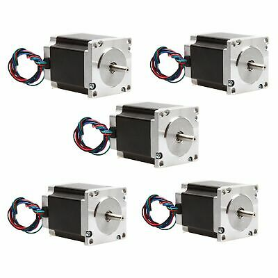 5pcs Nema 23 stepper motor 78mm 270oz.in 4leads 3A 23HS8430 cnc router kit LONGS