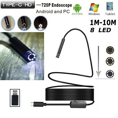 Android USB / TYPE-C Endoscope Inspection 5.5mm Camera 8 LED Waterprof Kits Lot