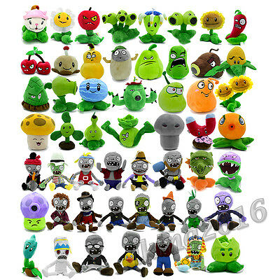 New Plants vs Zombies Figure Characters Toy Plush XMAS Gift Stuffed Children