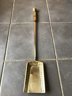 Vintage Brass Fire Fireplace Spade Shovel