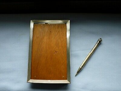 Engine turned SOLID SILVER propelling pencil & jubilee hallmarked photo frame