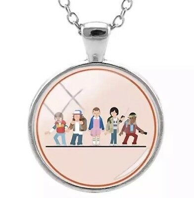 Stranger Things Characters Dome Necklace. New. Eleven 11. Will. Group Photo.