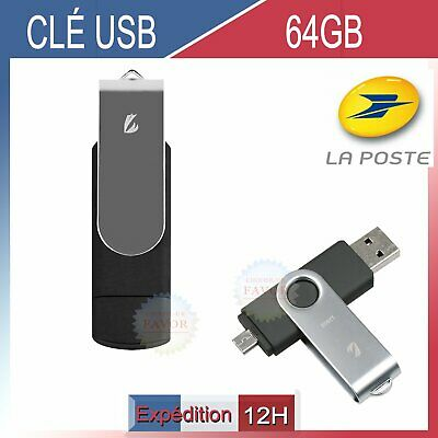 Clé USB 64G GO USB Drive à mémoire flash Key Stick Disk For Android PC Black FR