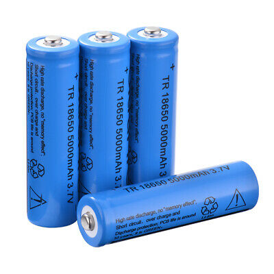 4/8x 18650 5000/6800mAh 3.7V Rechargeable Li-ion Battery Large Capacity Blue Red