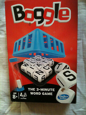 BOGGLE the 3 minute word game by Hasbro 8+ FAMILY FUN LITERACY SPELLING GAME