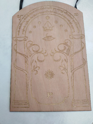 Speak friend and Enter Wood plaque engraved lord of the rings Tolkien Frodo Door