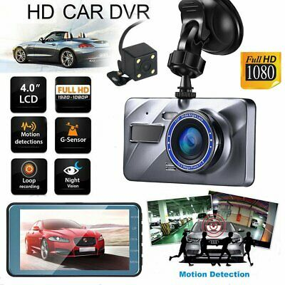 "Dual Lens 4"" Vehicle 1080P HD Car DVR Camera Video Recorder Dash Cam G-Sensor TM"