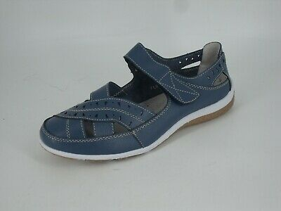 Heavenly Soles Touch Fastening Shoes Blue EEE Fit Size UK 5 EU 38 NH14 07