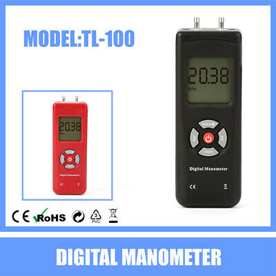 Manometer Digital Air Pressure Meter Differential Gas Tester Tool LCD Gauge