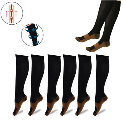 Copper Compression Socks Support Mens Womens 20-30mmHg Graduated Stockings