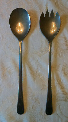 Pair Of Silver Plate Sheffield England Salad Tongs